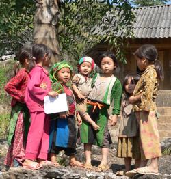 Students in Quan Ba