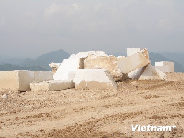 Khó kiểm soát trữ lượng khai thác khoáng sản của doanh nghiệp (Ảnh: Hùng Võ/VietnamPlus)
