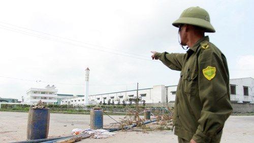 Công ty Chia Chen xả thải gây ô nhiễm khiến cuộc sống người dân đảo lộn (Ảnh: Minh Đức)